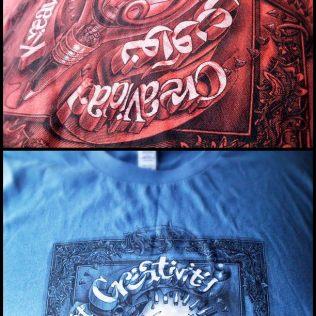 "Tshirt design for ""Creativity"""