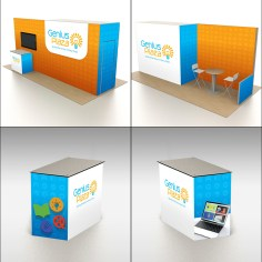 Booth design for Genius Plaza (using a template 3D render)