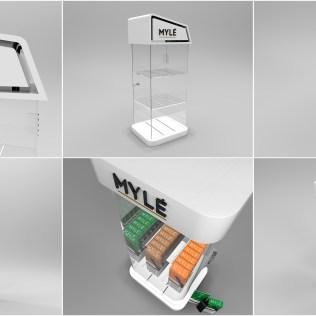Myle Vapor product display