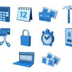 3D Icons for Smart Loans Solution website