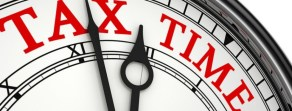 FAS Forensic Accounting Services tax time clock banner