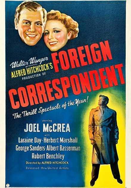 فيلم Foreign Correspondent 1940 مترجم