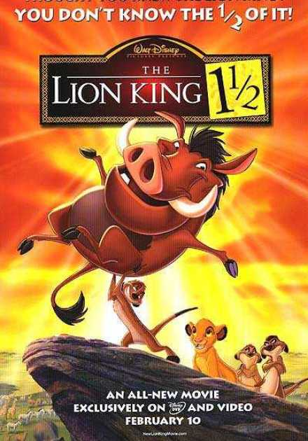 فيلم The Lion King 1 1/2 2004 مترجم