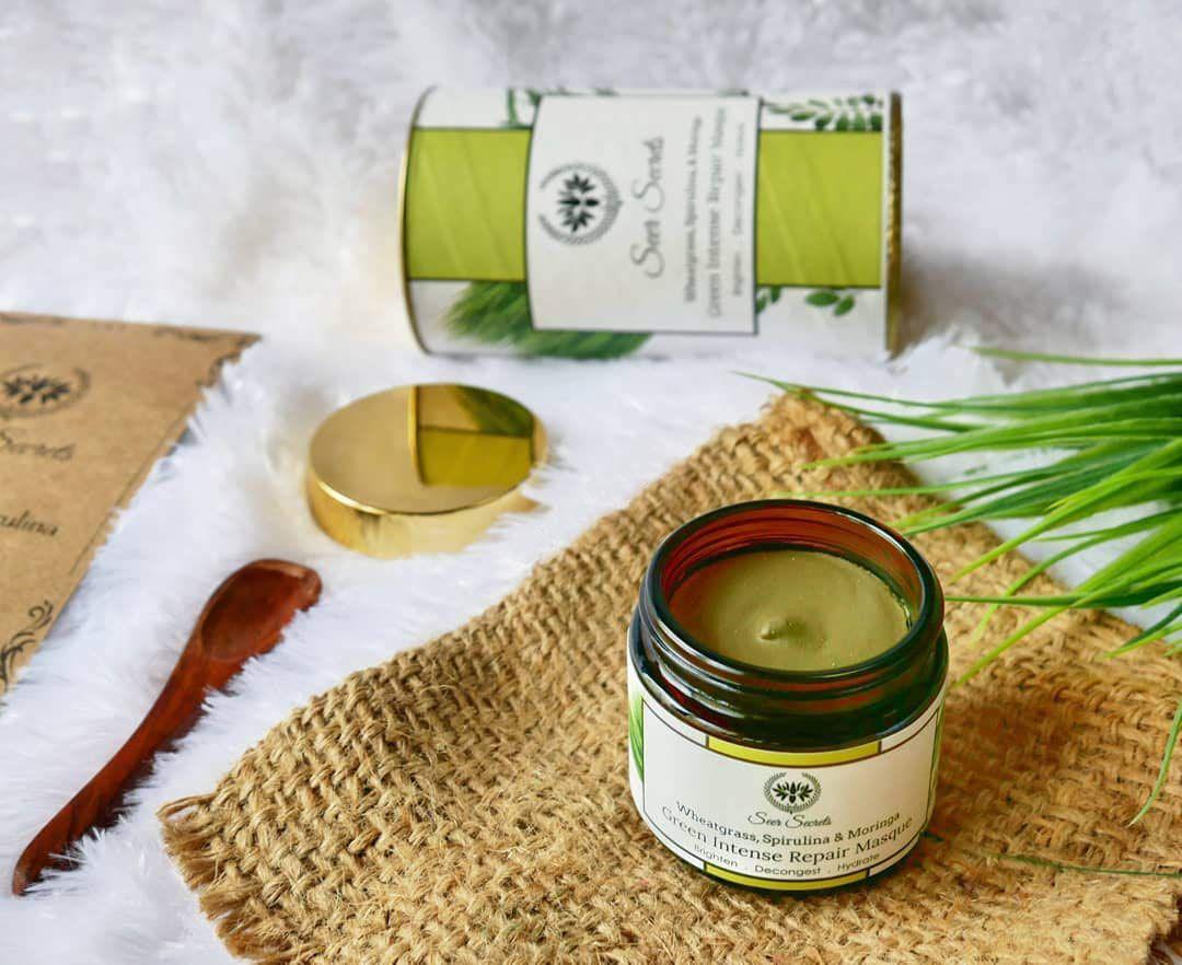 seer secrets, green intense repair masque