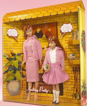 Knitting Pretty Vintage Barbie Reproduction