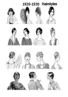 1920s - 1930 Hat & Hair Styles