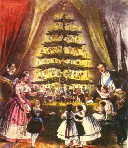 Victoria och Albert firar jul på Windsor Castle.