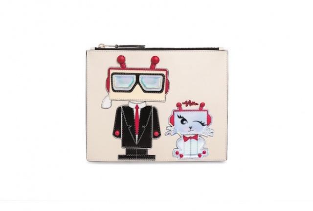 KARL_LAGERFELD_Robot_Pouch_Clutch