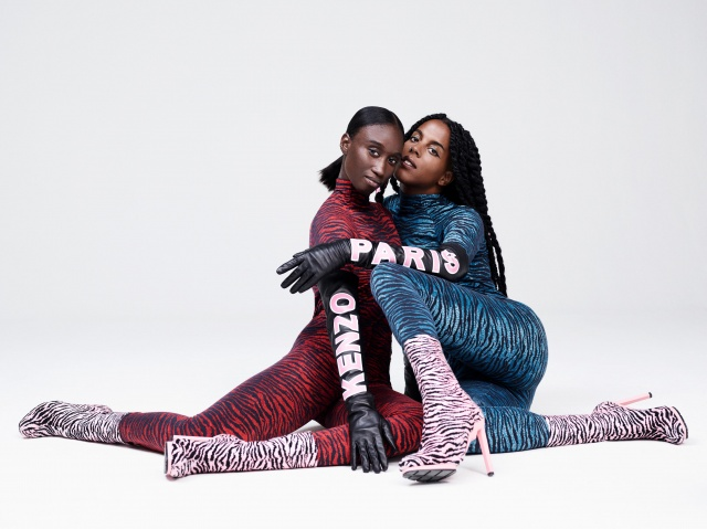 Look book KENZO x H&M_Amy Sall_and_Juliana Huxtable
