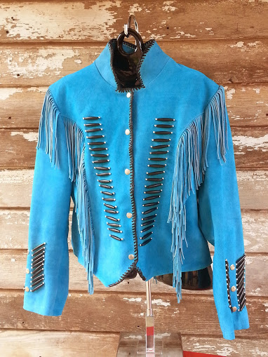 Western Womens Jacket Suede Fringed Hand Decorated