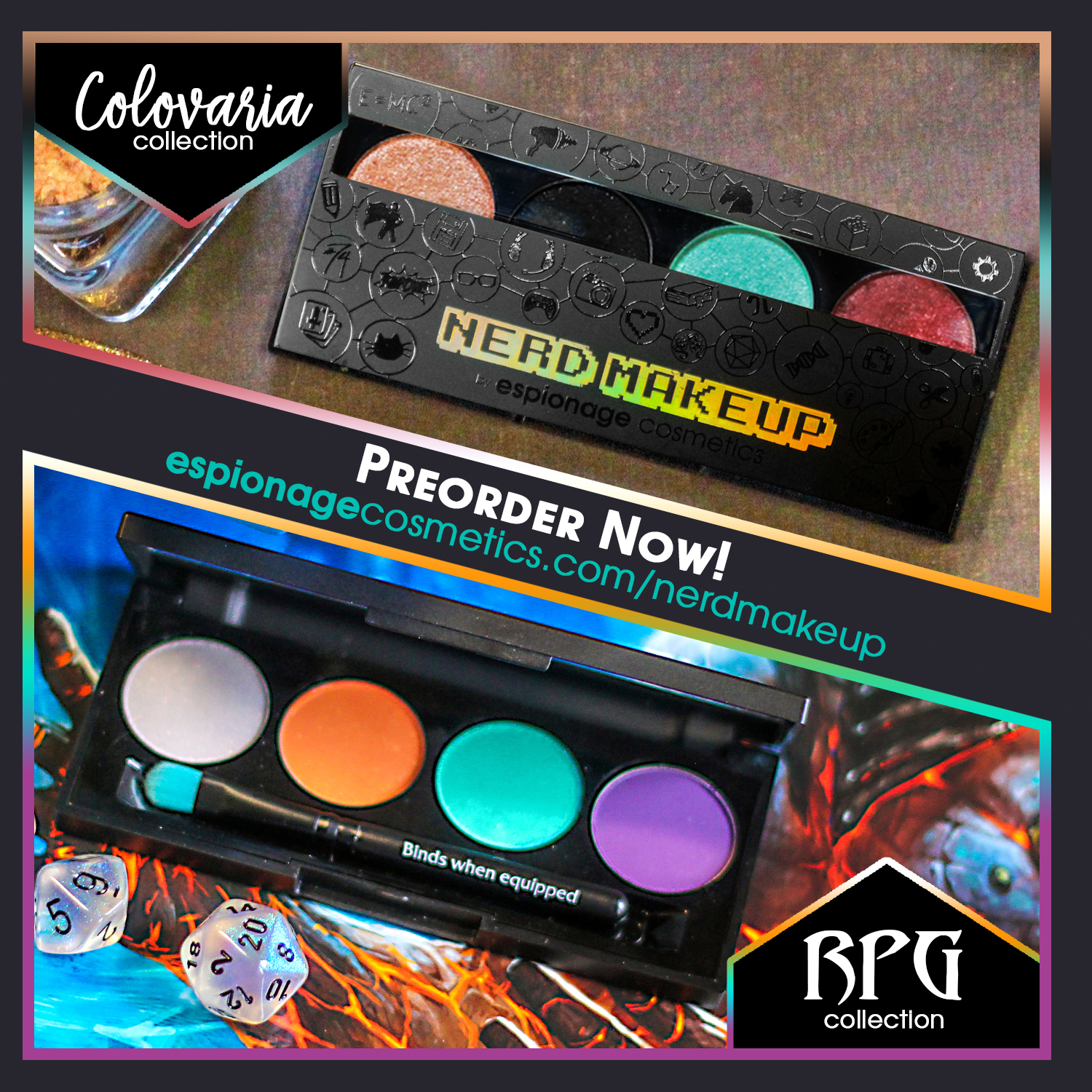 For the last several months, Espionage Cosmetics has been a buzzing topic over their makeup palette teasers. A photo showcasing the four makeup colors based ...