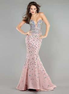 2015 Fishtail Dress Models - Pink