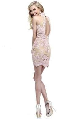 2015 Short Dress Models - Cream
