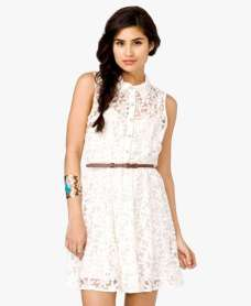 Lace Dresses - White