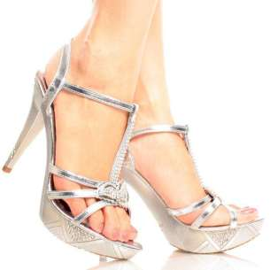 Silver High Heel Shoes 2015