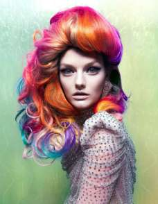 Colorful Extravagant Hairstyles