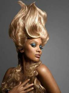 Yellow Extravagant Hairstyles