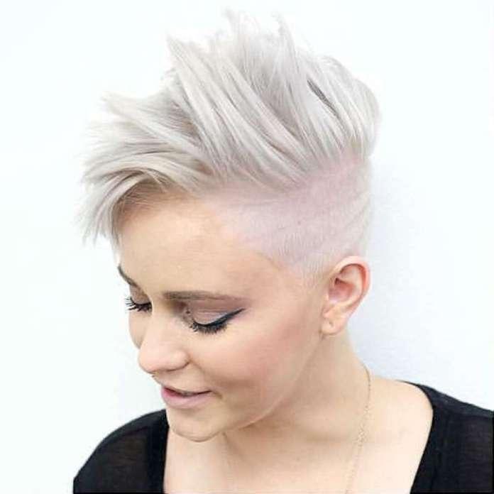 Short Hairstyles White Hair - 1