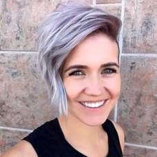 2017 Short Hairstyles Purple - 1