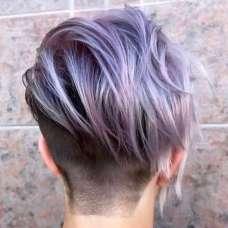 2017 Short Hairstyles Purple - 3