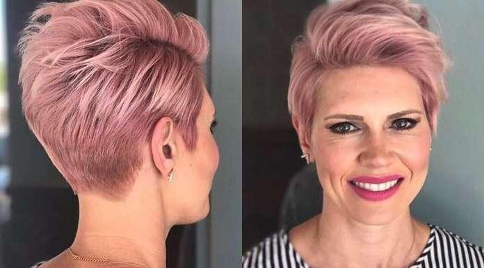 Short Haircuts Pink 2017