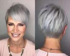 Short Hairstyle Grey Hair - 9