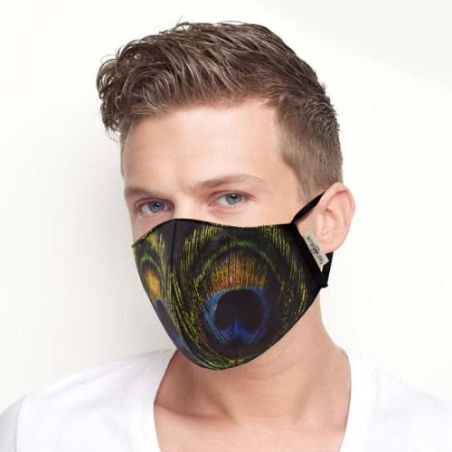 Mask Macaone Mascherina Filtrante Mask Pavone con 3 strati di TNT da 35 gr.