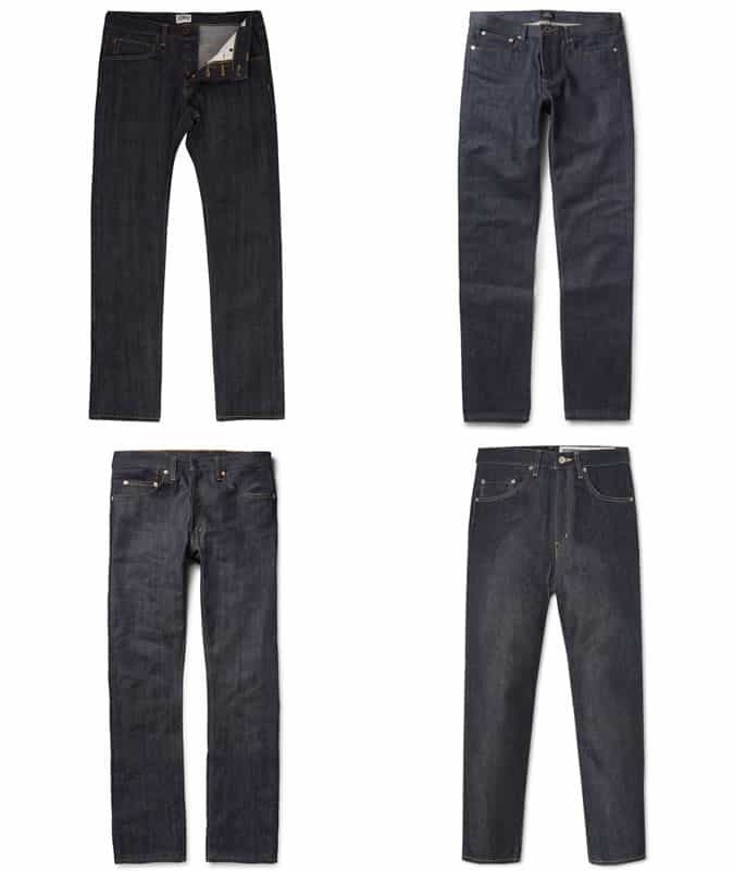 Men's Streetwear Selvedge Denim Jeans