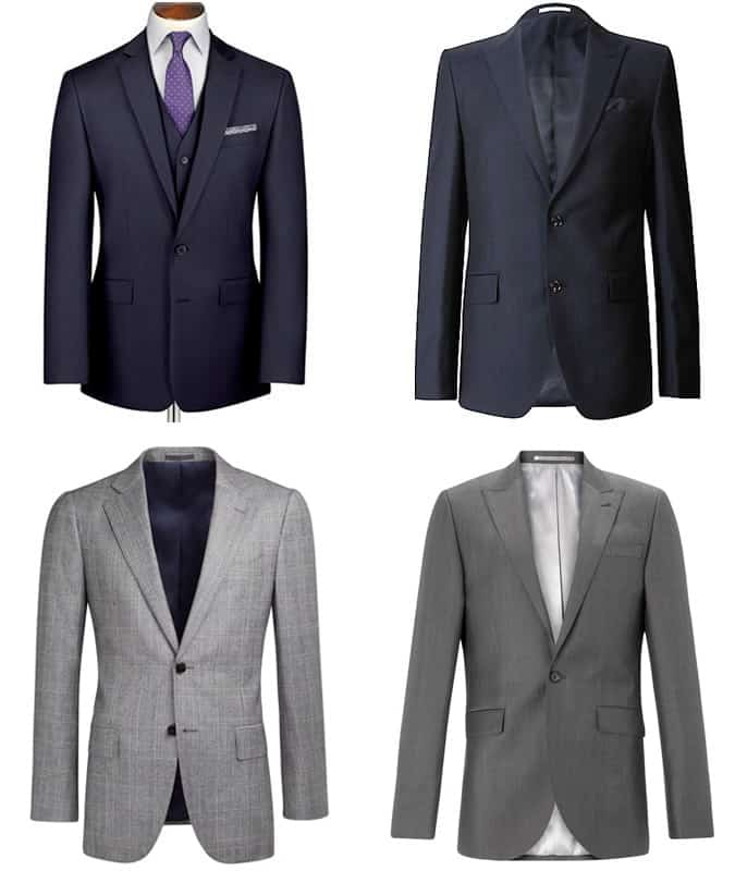 Men's Navy and Grey Classic Suits