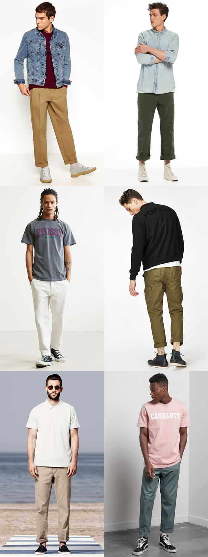 How to wear men's skate trousers and worker pants