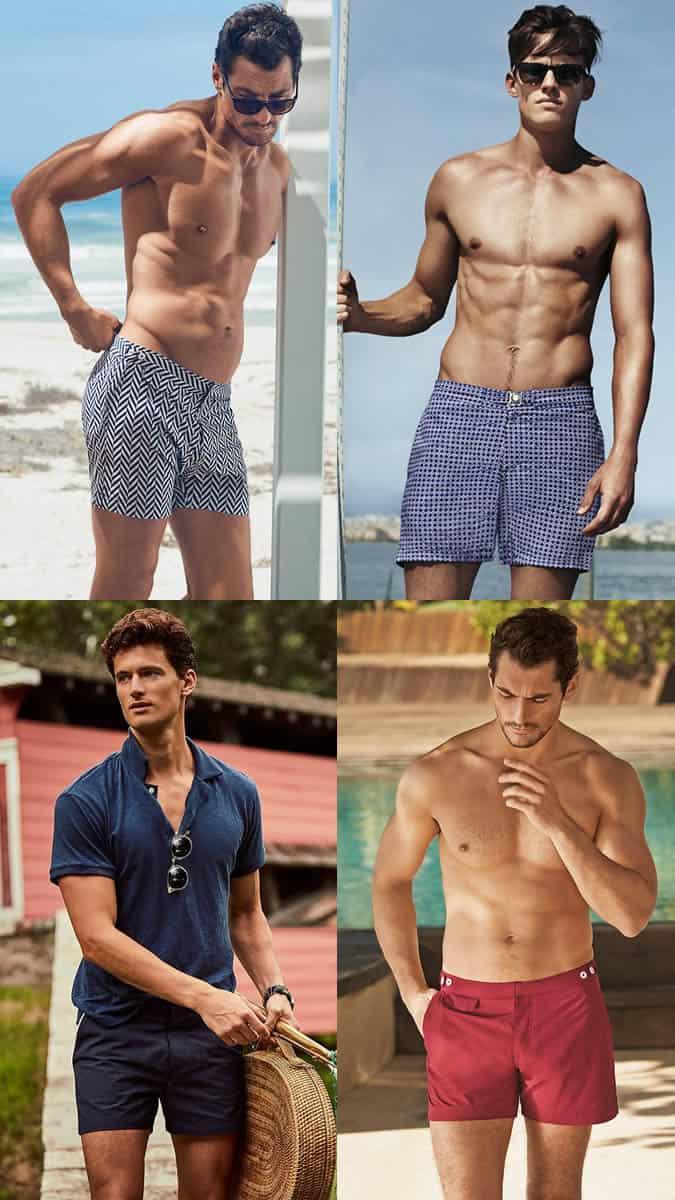 tailored swim shorts for men