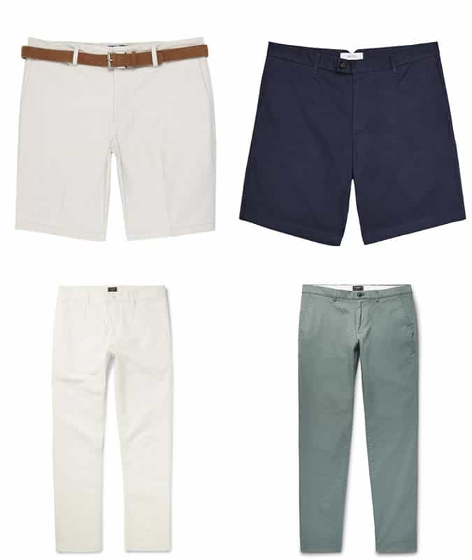best tailored shorts and chinos for men