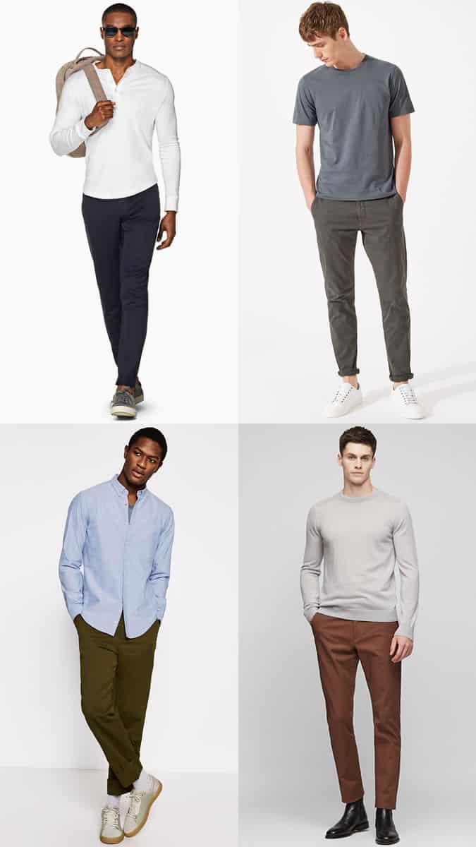 dark chinos styles for men