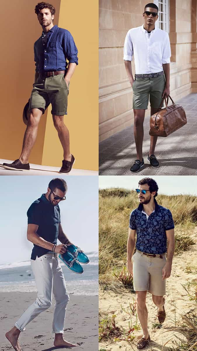 How to wear men's boat/deck shoes in summer