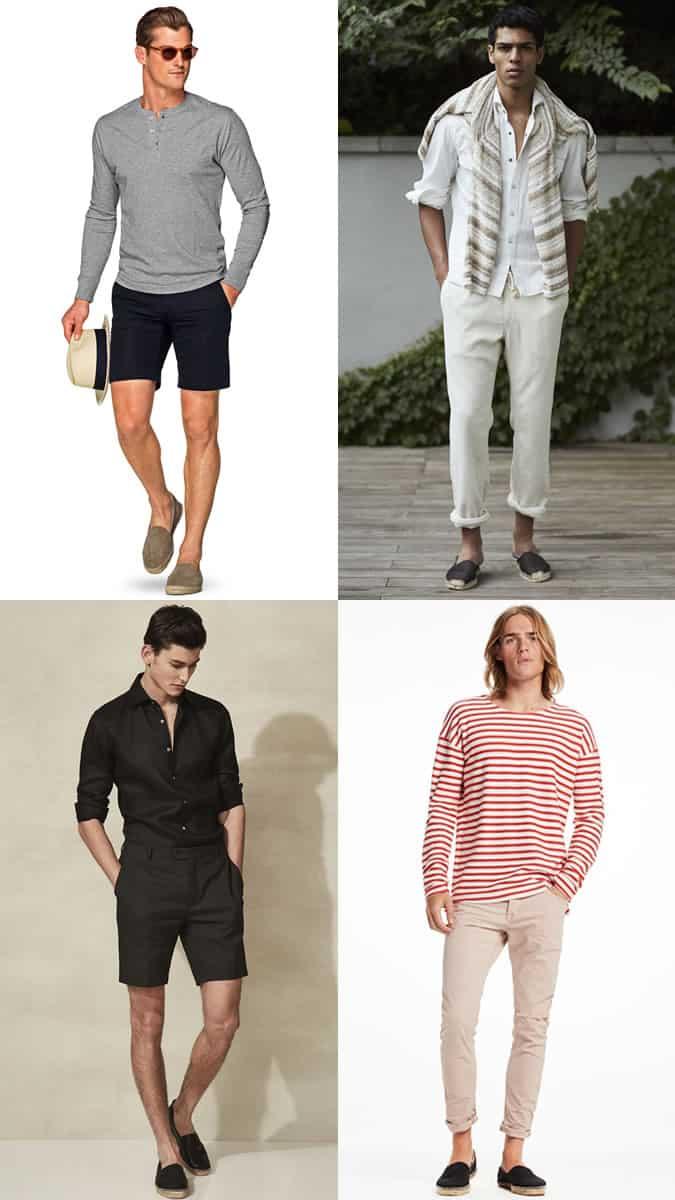 How to wear men's espadrilles in summer