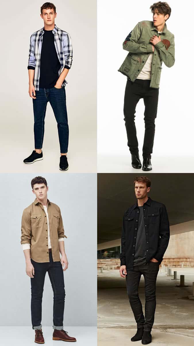 Men's Overshirt Outfit Inspiration Lookbook