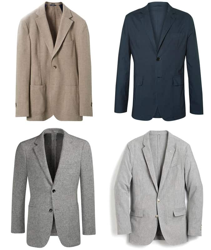 the best unstructured blazers for men