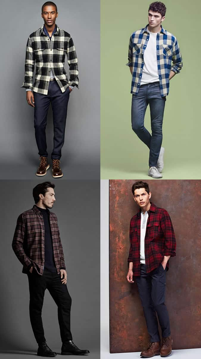 how to wear flannel shirts