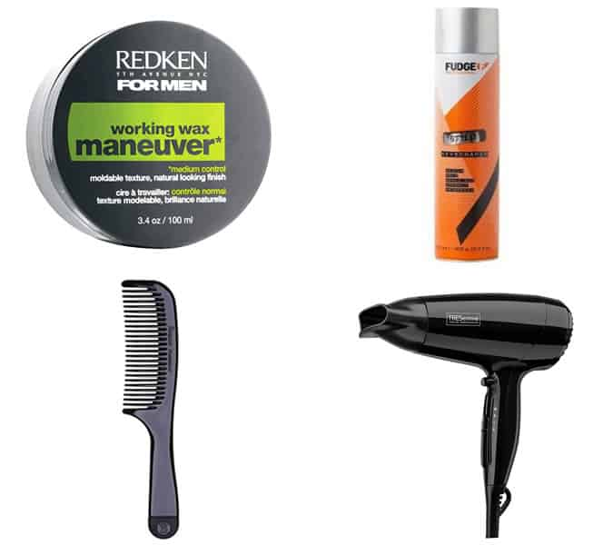 styling products for a modern pompadour hairstyle