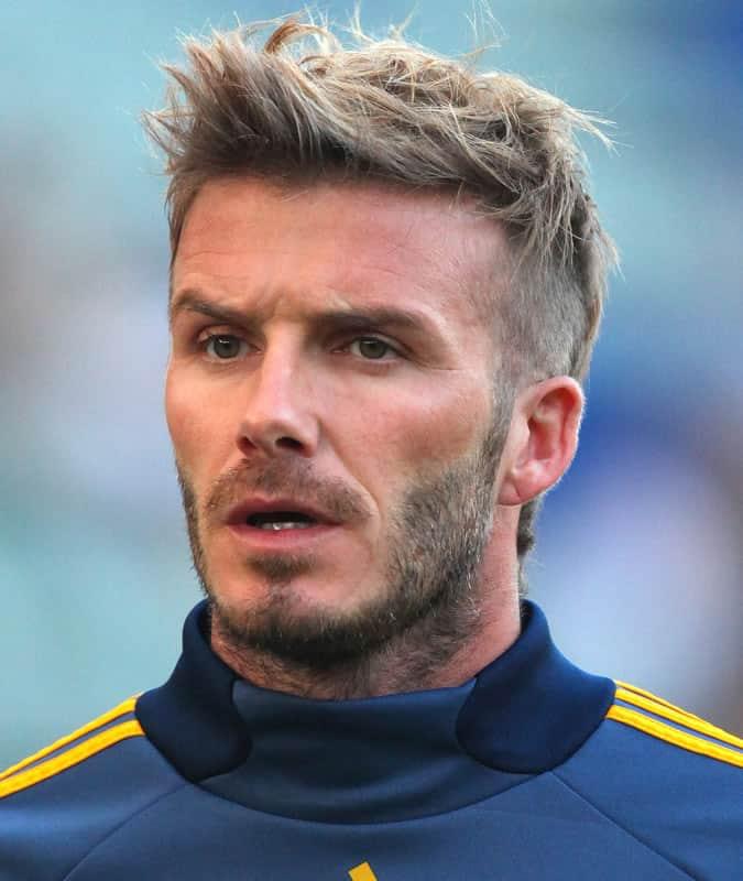 David Beckham's Best Hair Styles - Faux Hawk Haircut