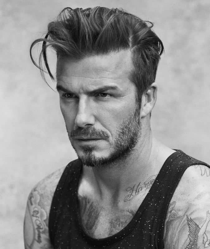 David Beckham's Best Hair Styles - Loose Quiff Haircut
