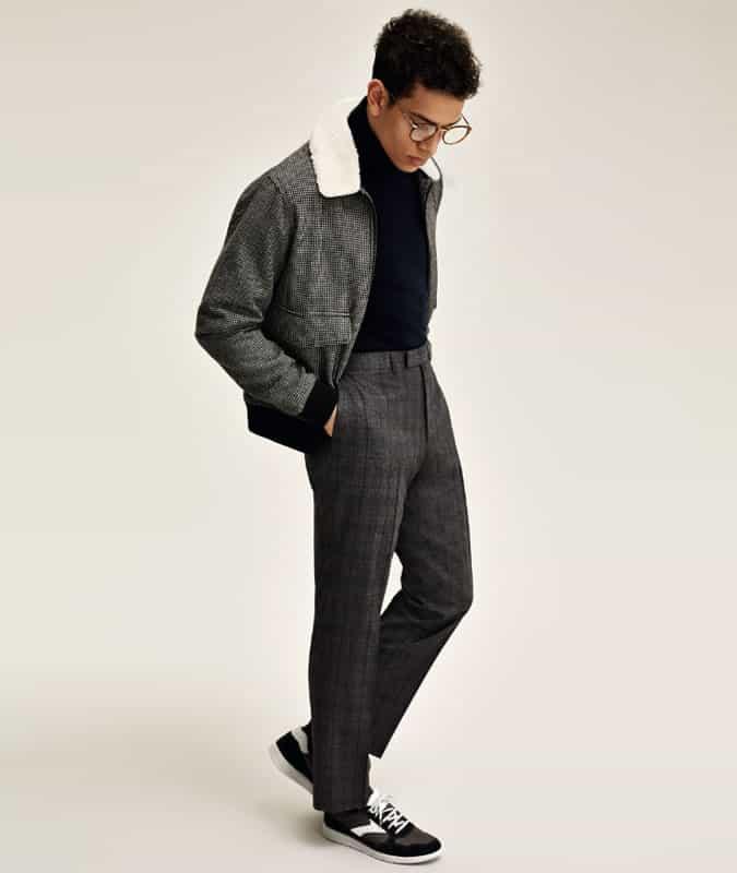 tucking knitwear into trousers
