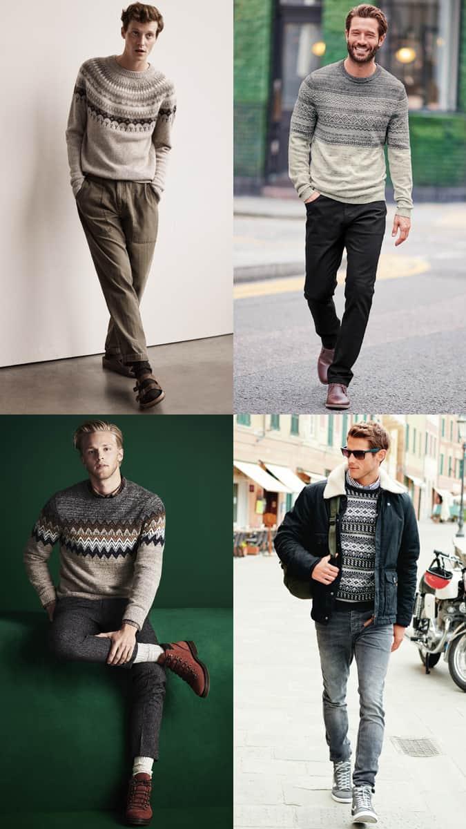 How to wear a festive fair isle sweater or jumper