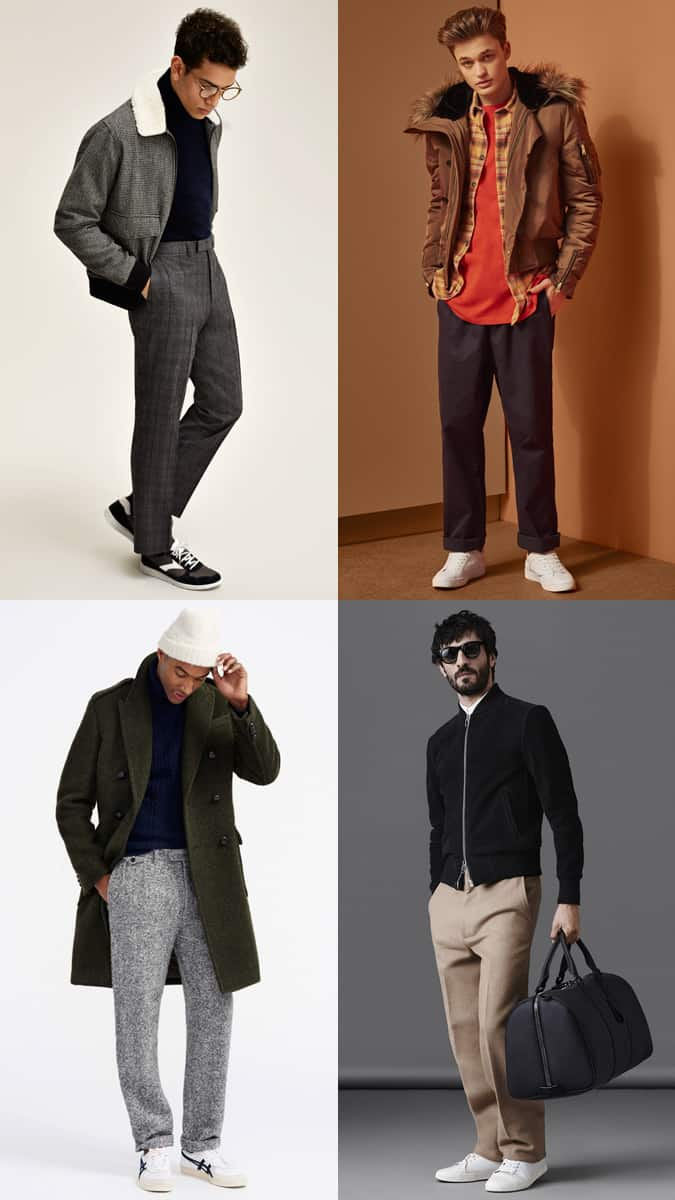 Men's Wide-Leg Trousers and Chinos Outfit Inspiration Lookbook For Autumn/Winter 2017