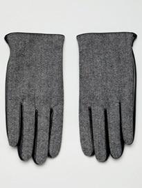 ASOS DESIGN leather gloves