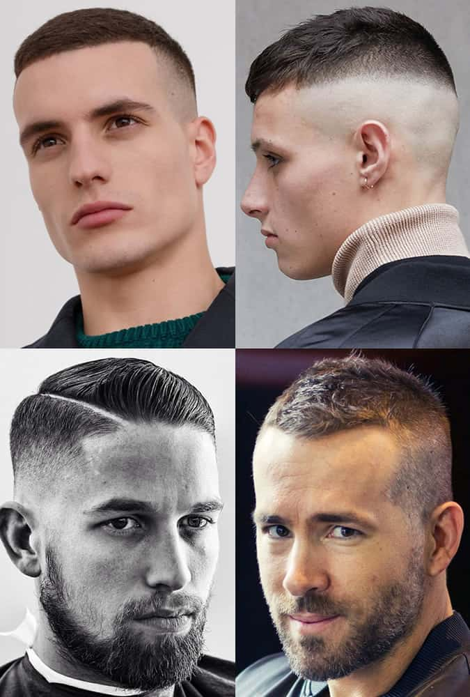 Classic military/jarhead high and tight haircuts for men