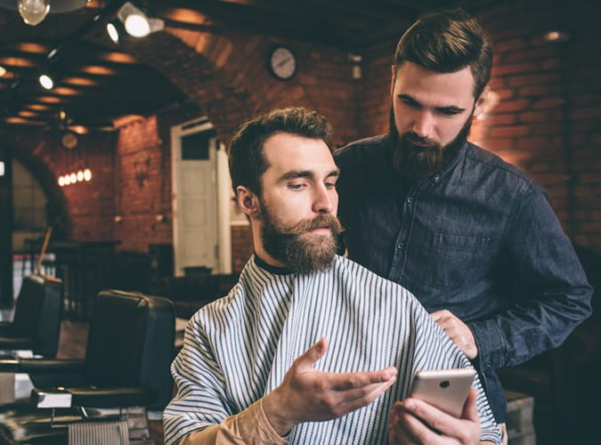 Showing barber what you want