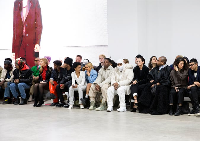 Front row at fashion week