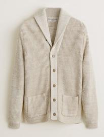 He By Mango Cotton Chunky Knit Cardigan