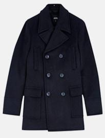 Burton Navy Wool Blend Peacoat